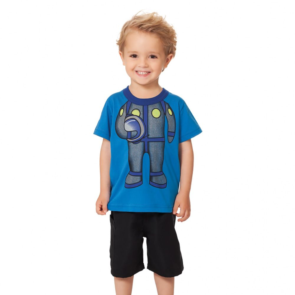 Conjunto Menino Bee Loop Camiseta e Bermuda 13379
