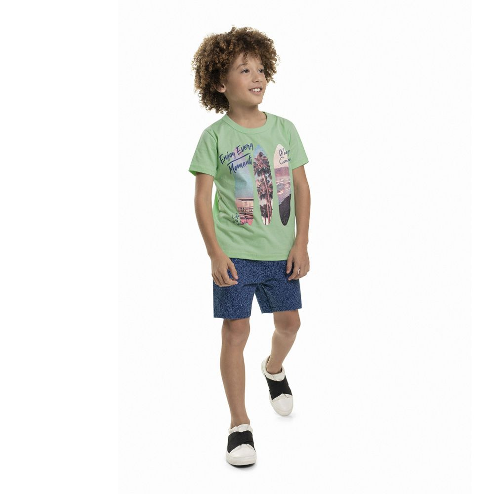 Conjunto Menino Bee Loop Enjoy Every Moment Verde 13613