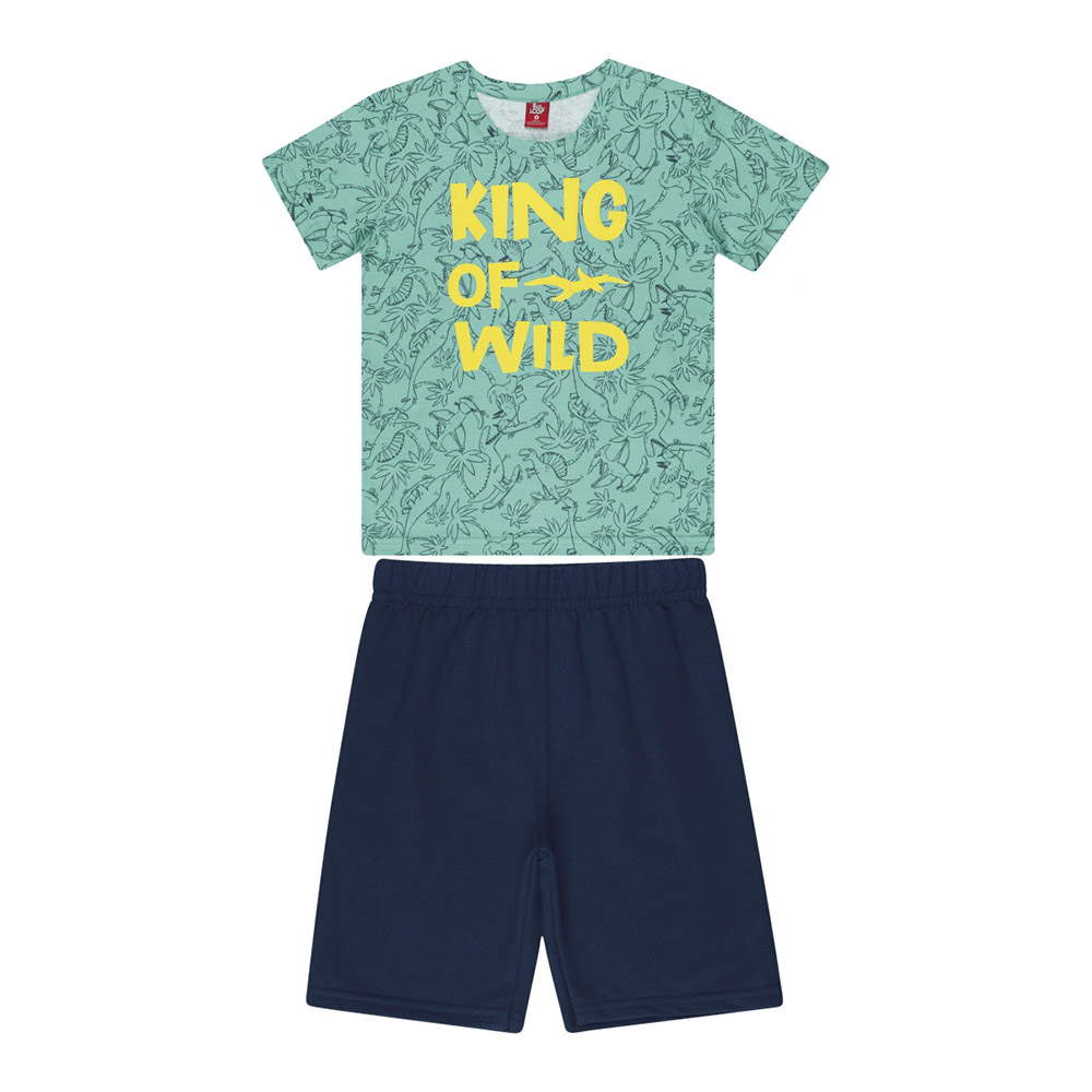 Conjunto Menino Bee Loop King Of Wild Verde Turquesa 13872