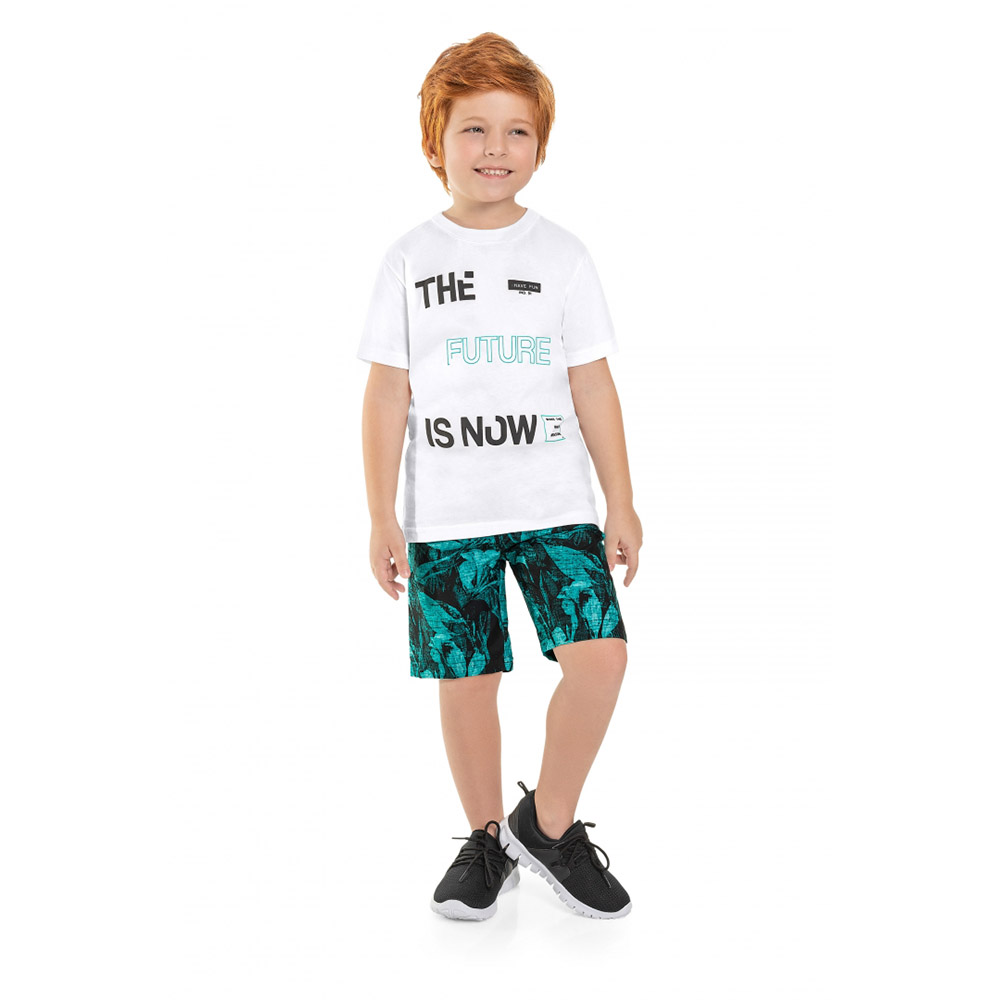 Conjunto Menino Bee Loop The Future Is Now Branco 13874