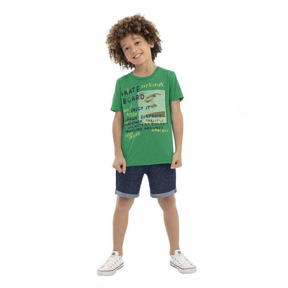 Conjunto Menino Quimby Skate Board Verde 28139