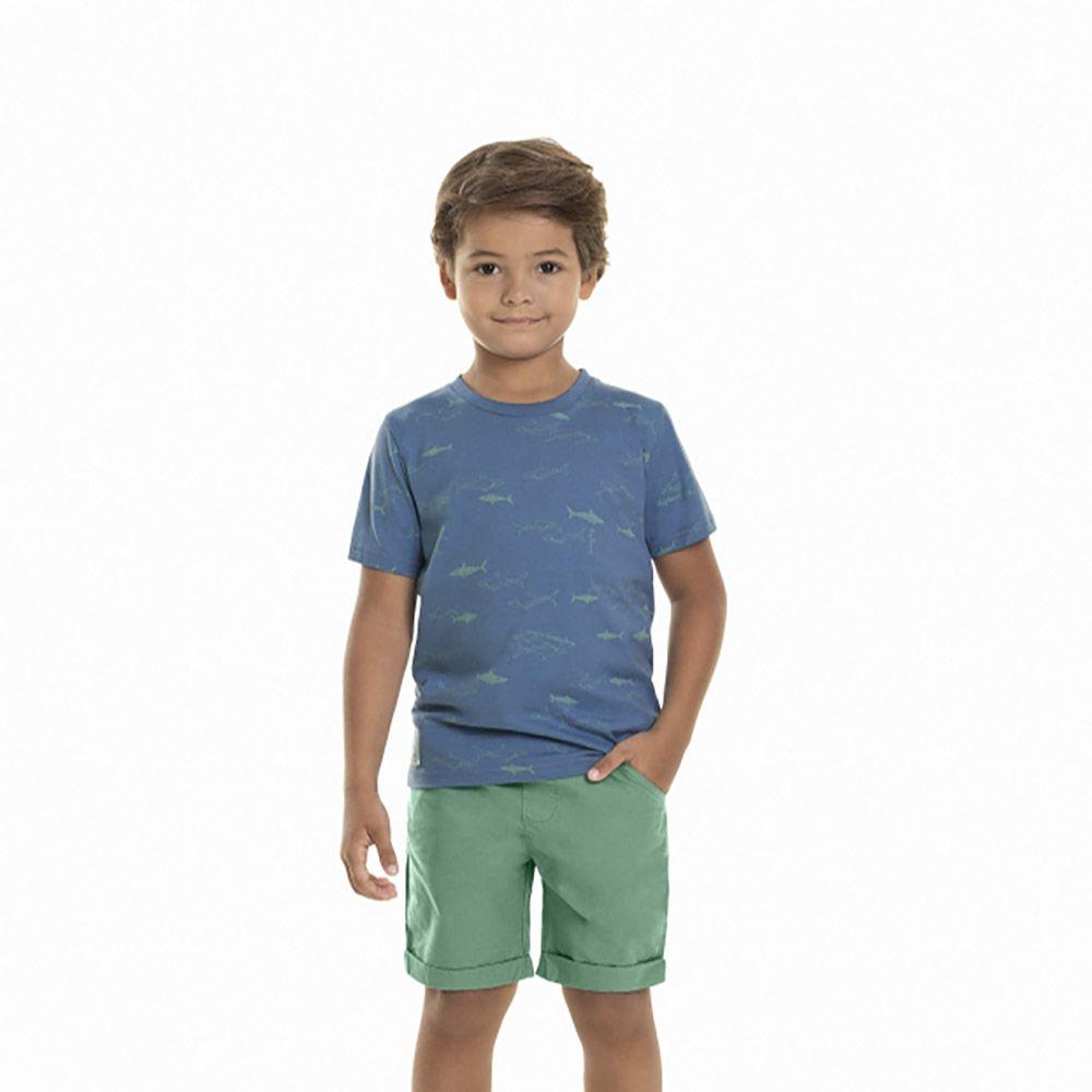 Conjunto Menino Quimby Tubarão Azul e Verde 28056