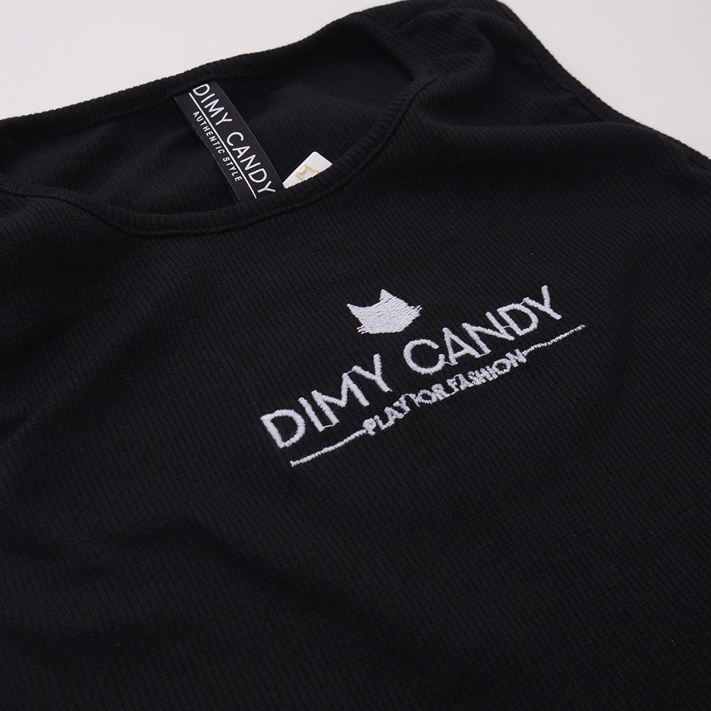 Cropped Dimy Candy Frufru Preto 82707
