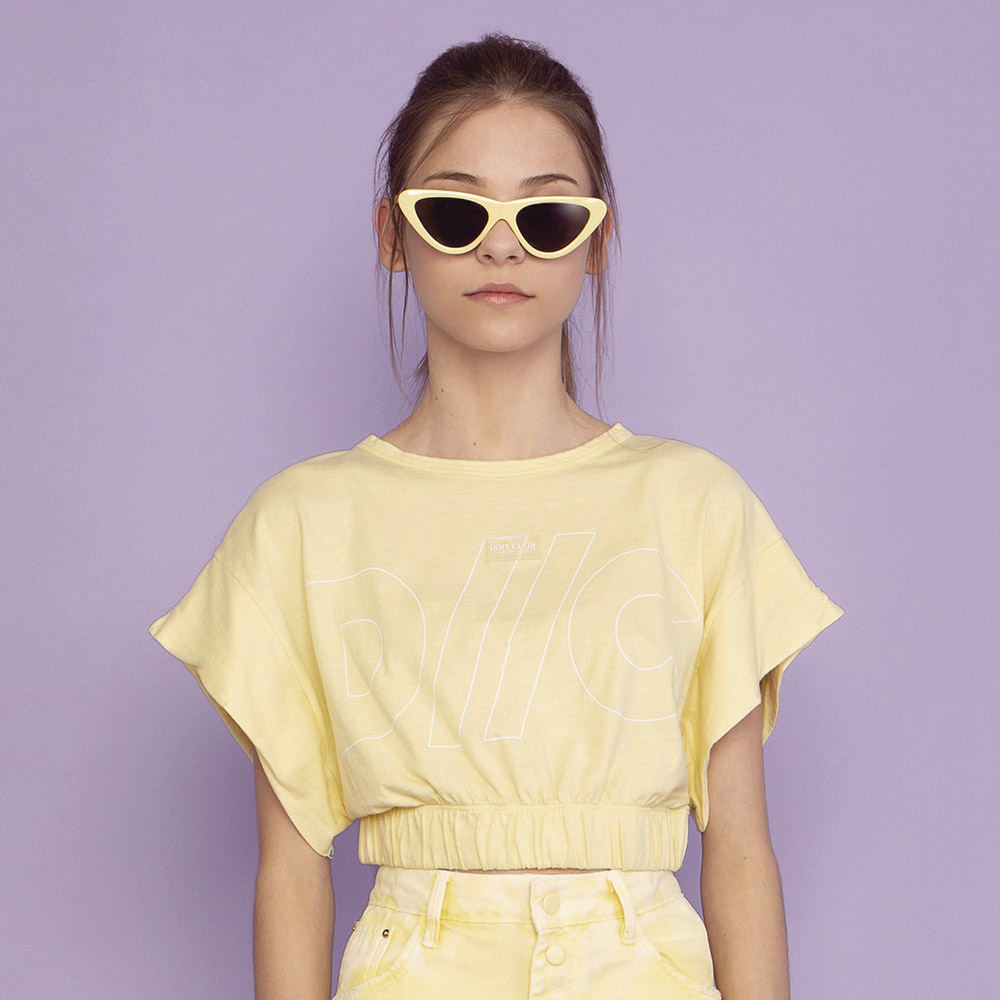 Cropped Dimy Candy Mousse Amarelo 82721