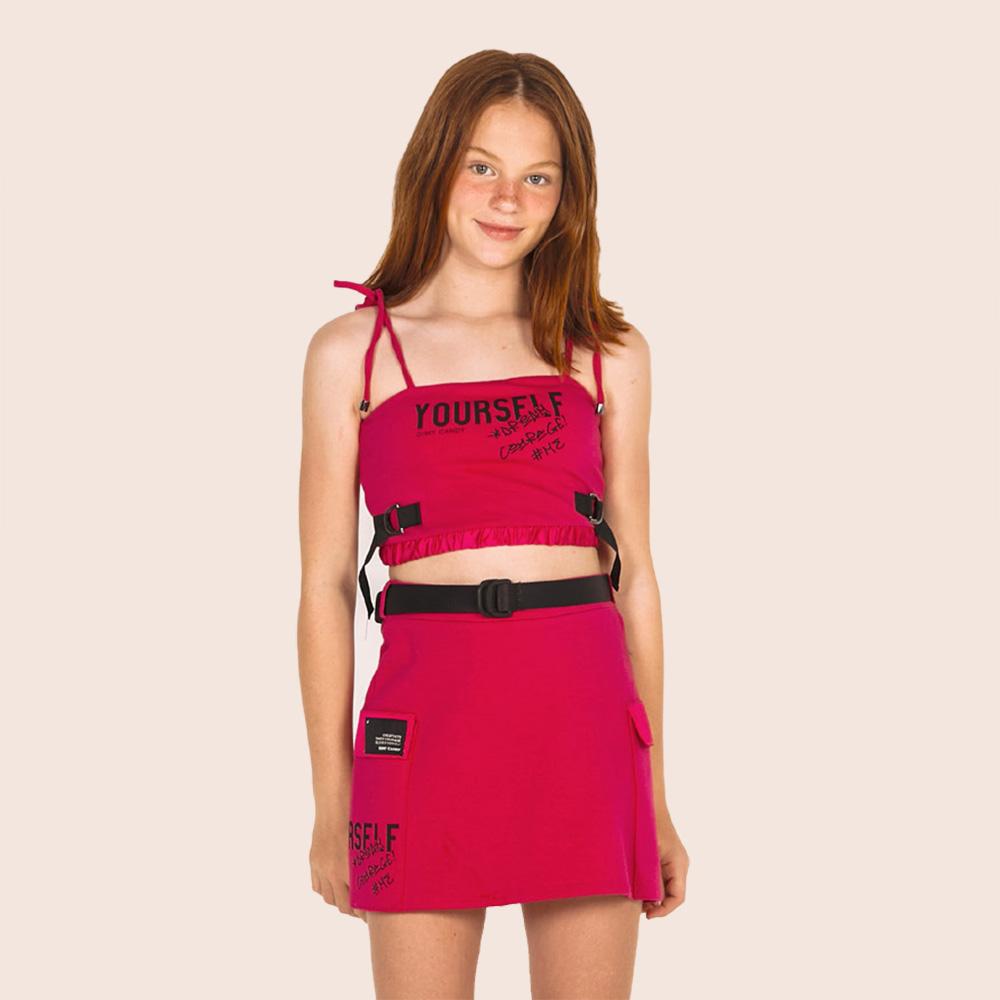Cropped Dimy Candy Pink Com Elástico 82392