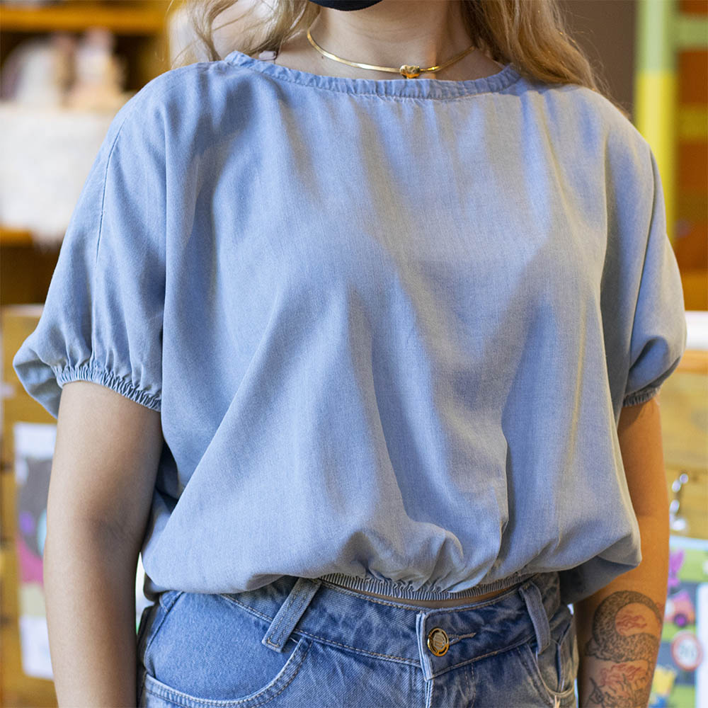 Cropped Usar Jeans Leve