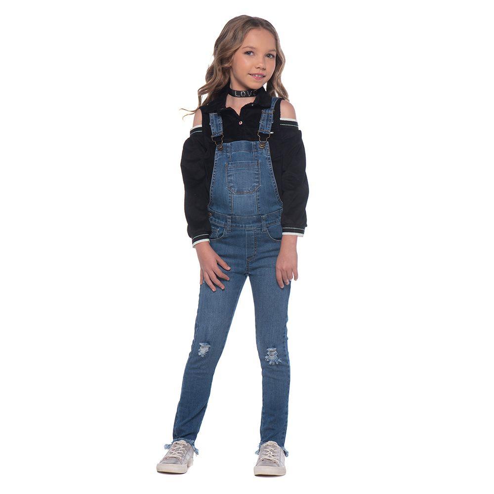 Jardineira Menina Mania Kids Calça 60780G