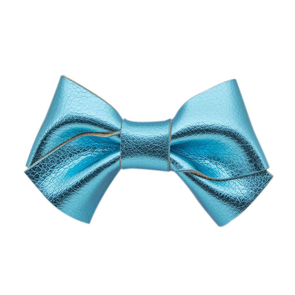 Laço Menina Mug Metalizado Azul Turquesa