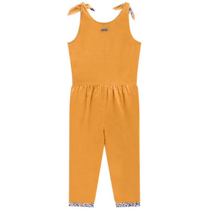 Macacão Menina Ever Be Veludo Cotelê Amarelo 60025
