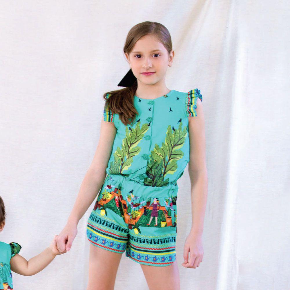 Macacão Menina Preoce Plantação Verde 2145