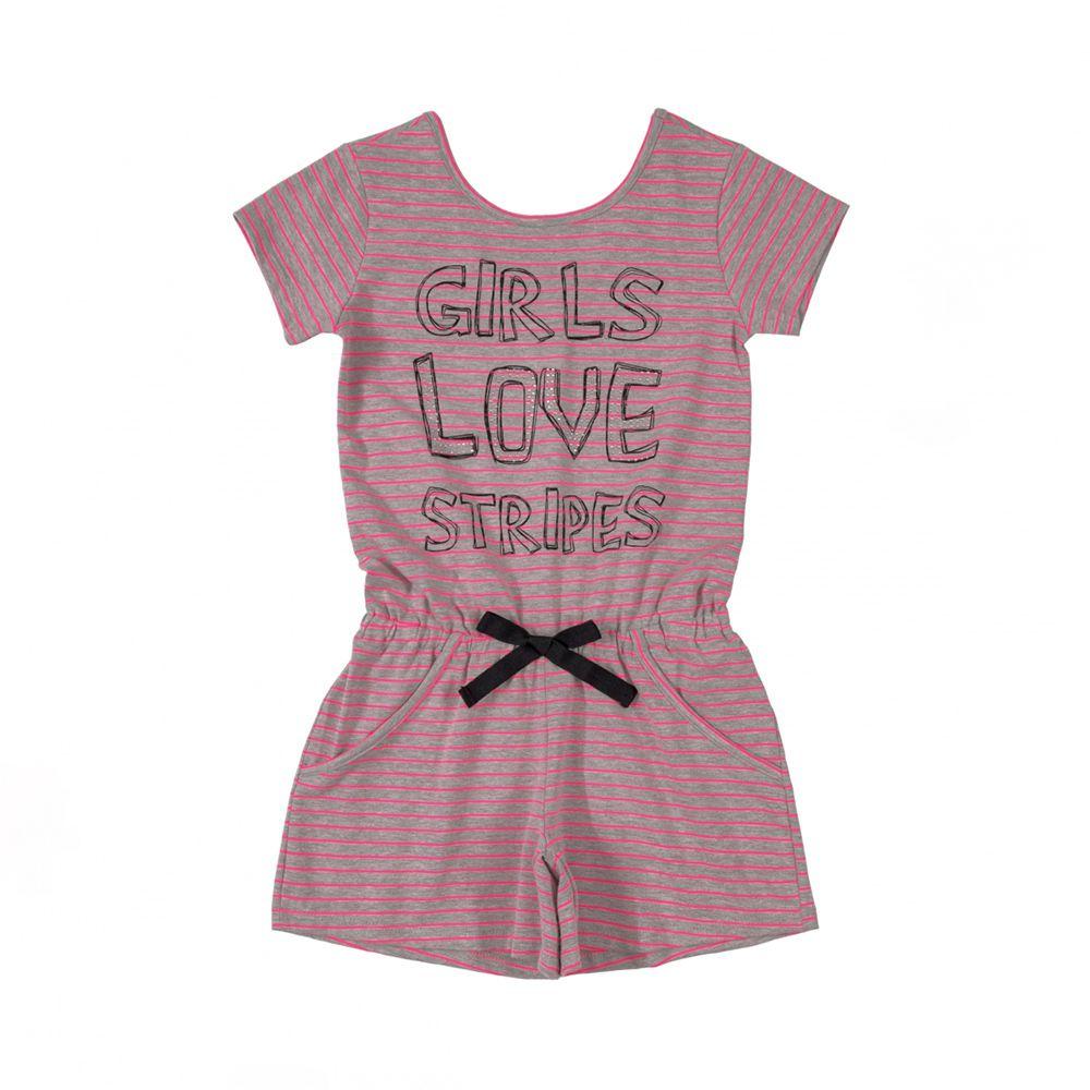 Macacão Menina Quimby Girls Love Stripes 28122