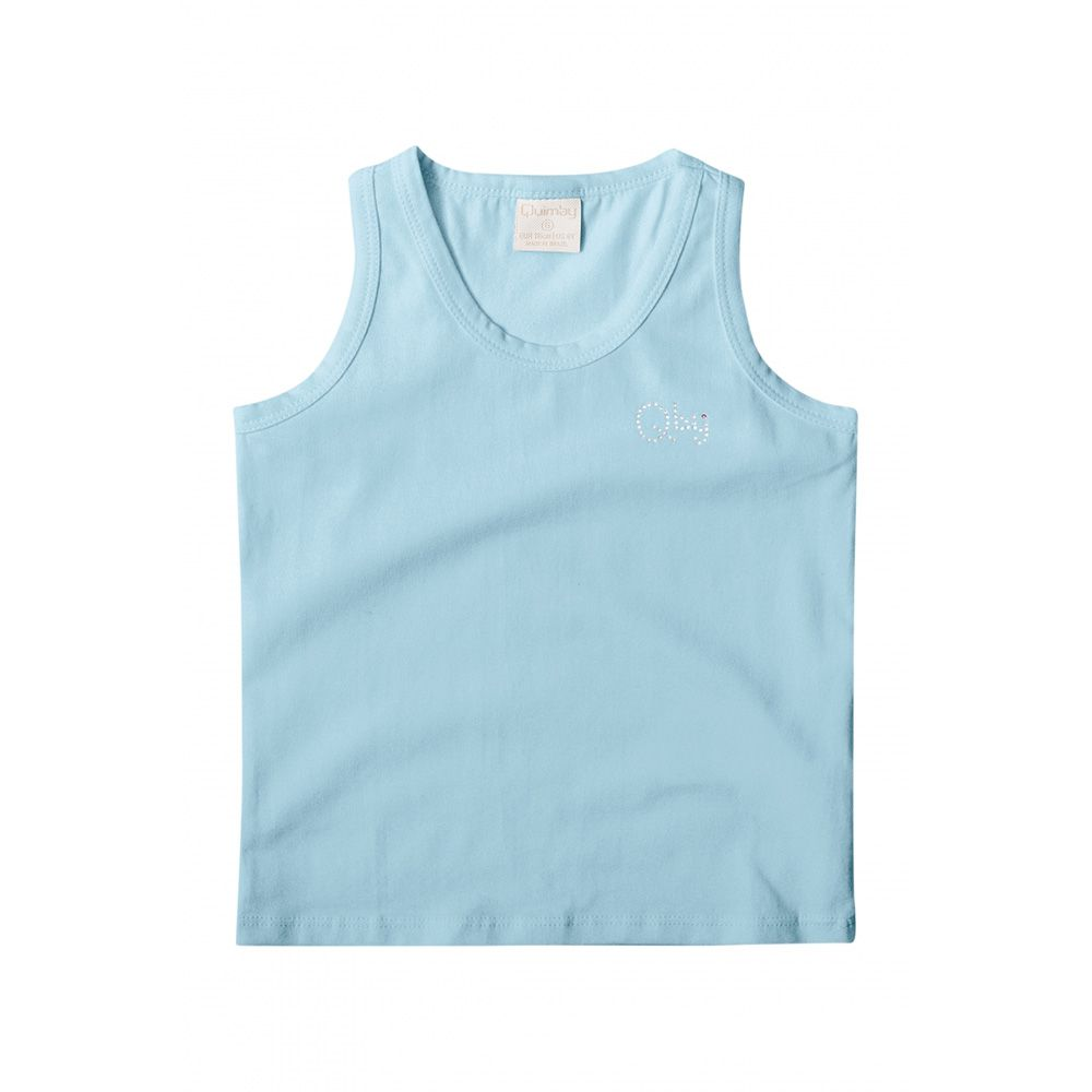 Regata Menina Quimby em Cotton Azul Bb