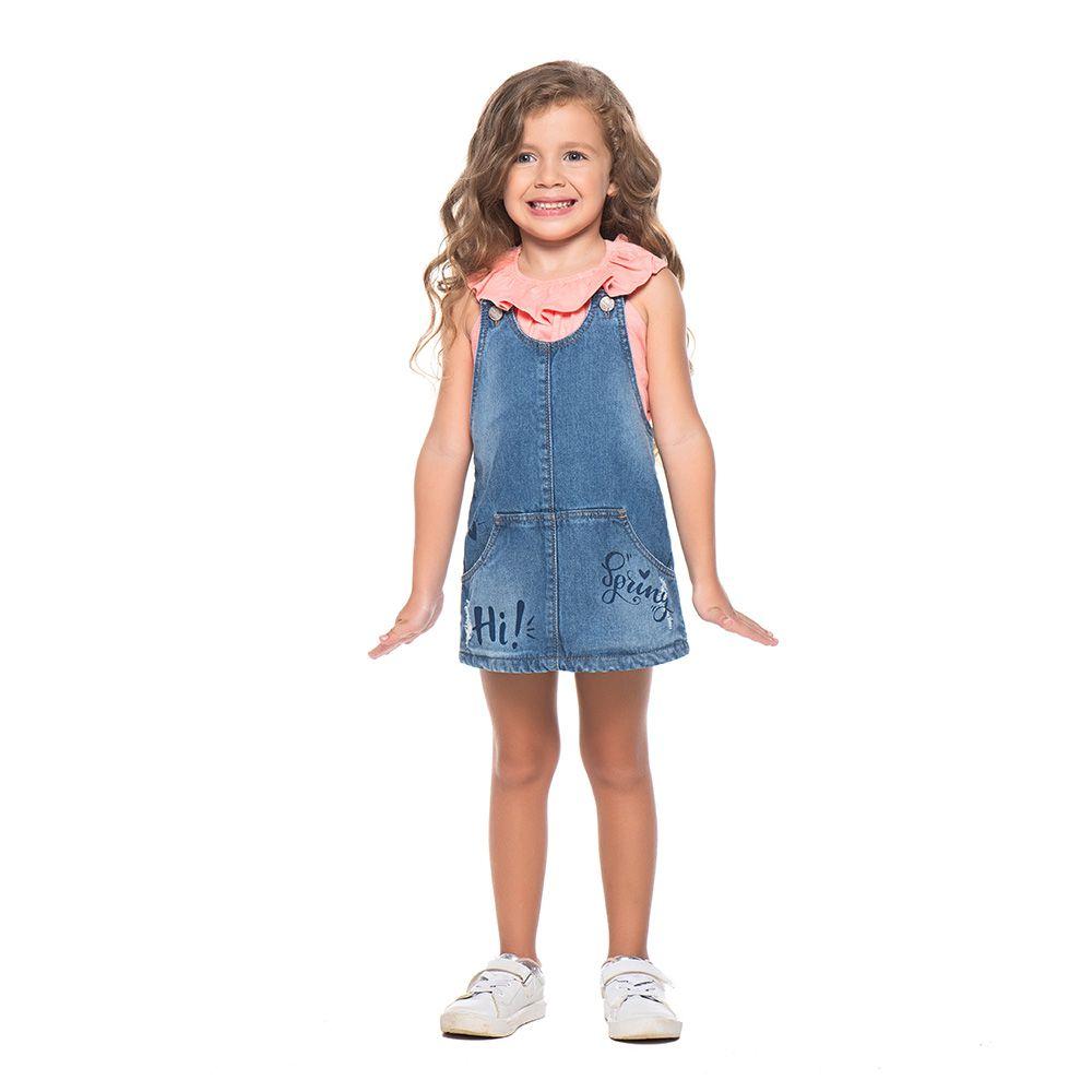 Salopete Menina Mania Kids Jeans 50666