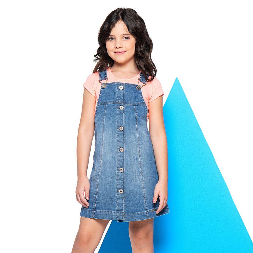 Salopete Menina Mania Kids Jeans 60850