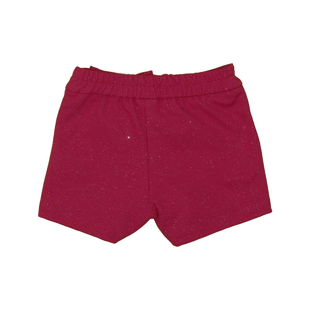 Short Beabá Vermelho Com Brilho 808044Bn