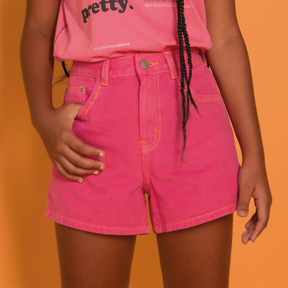 Short Dimy Candy Mom Pink Pespontado 82577