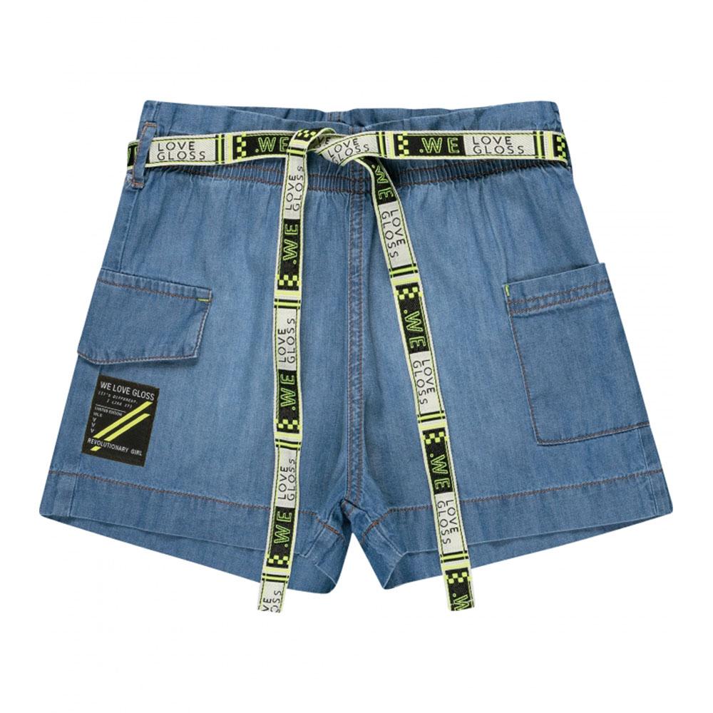 Short Gloss Jeans Mescla 31287