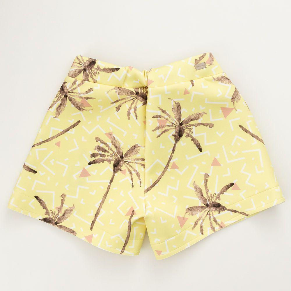 Short Menina Acostamento Palm Party Yellow 83817002