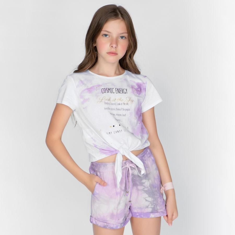 Short Dimy Candy Ametista Tie Dye 82114