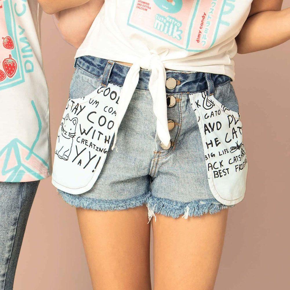 Short Menina Dimy Candy Ao Avesso Jeans 81400