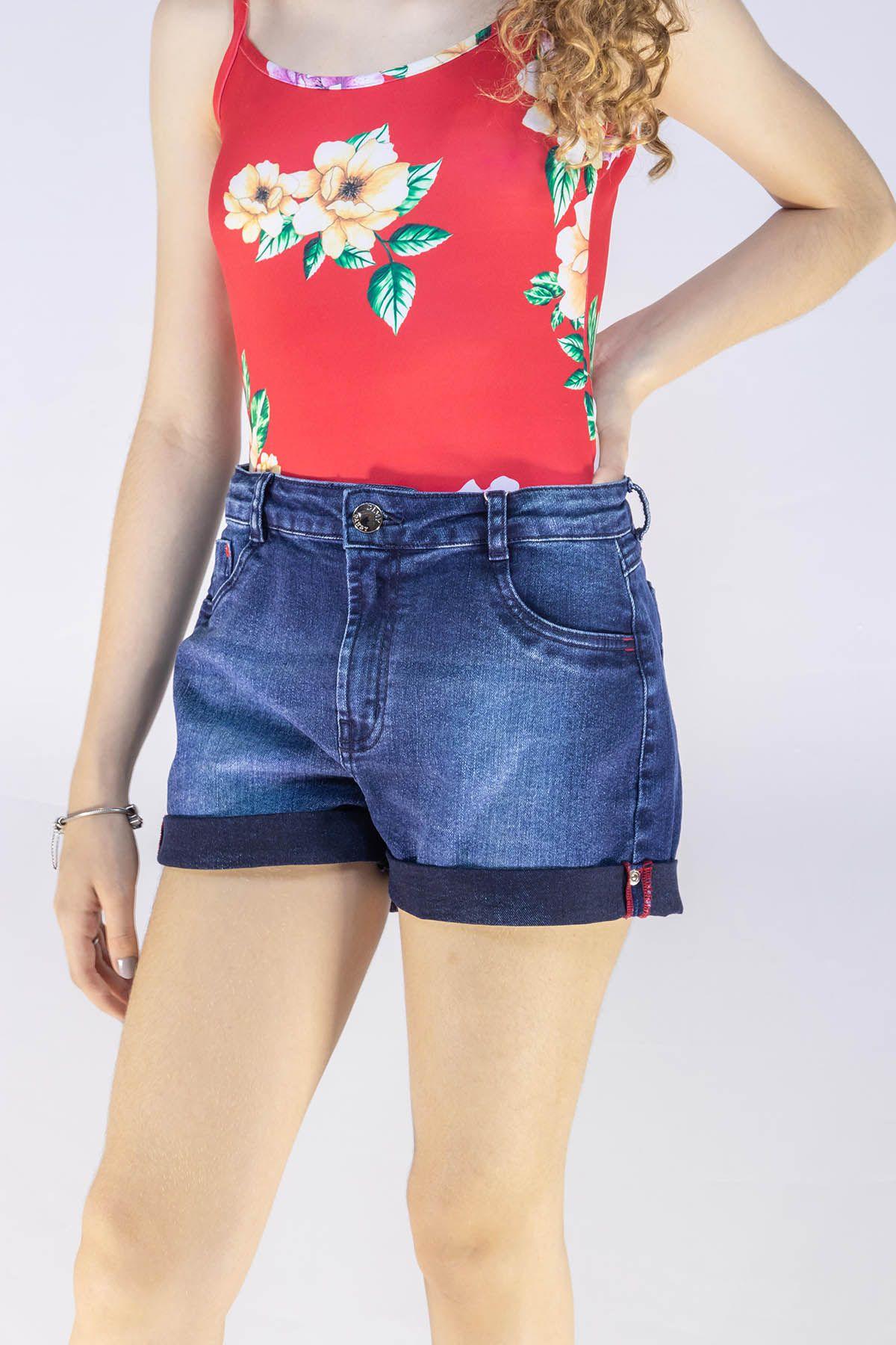 Short Menina Dimy Candy Boyfriend Jeans Escuro 81619