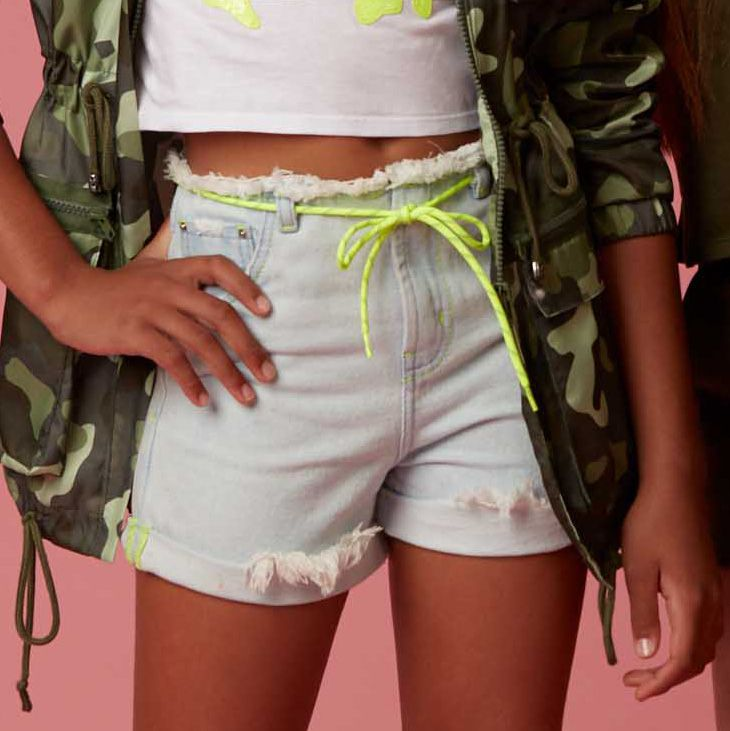 Short Dimy Candy Jeans Alto Neon 81476