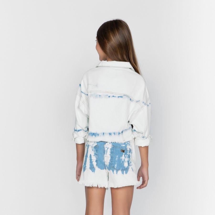 Short Dimy Candy Jeans Claro e Tie Dye 82105