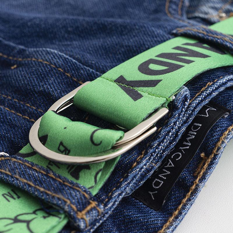 Short Dimy Candy Jeans com Cinto Verde Grafitado 82295