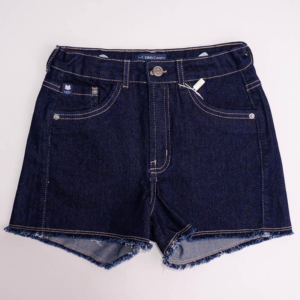 Short Menina Dimy Candy Jeans Escuro 82258