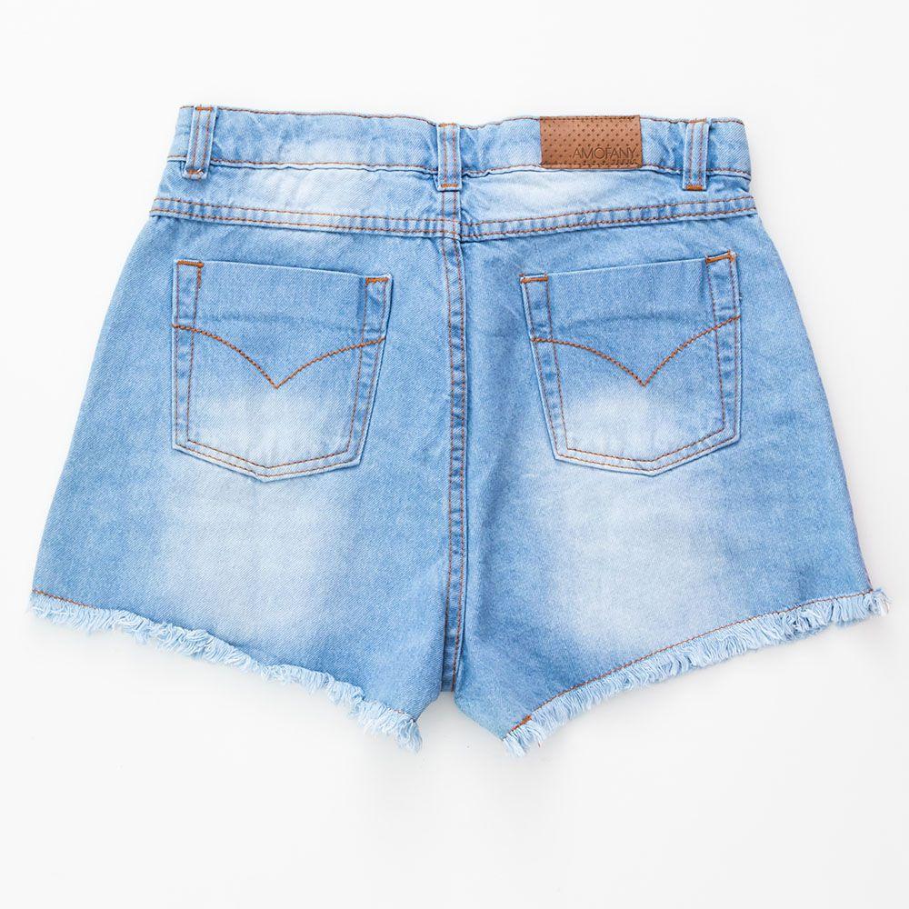 Short Menina Amofany Jeans Claro 00051