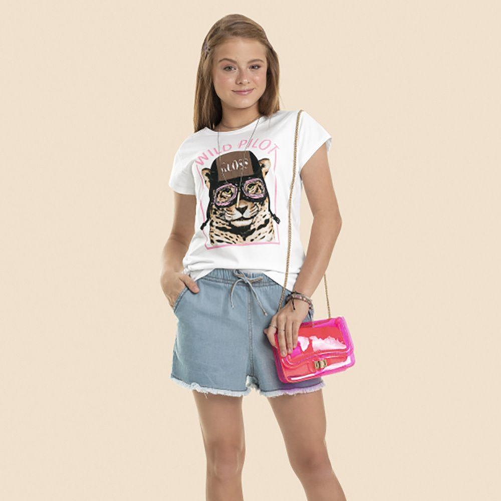 Short Menina Gloss em Tecido Jeans 31022
