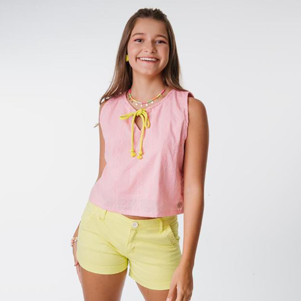 Short Menina L2M Amarelo 522