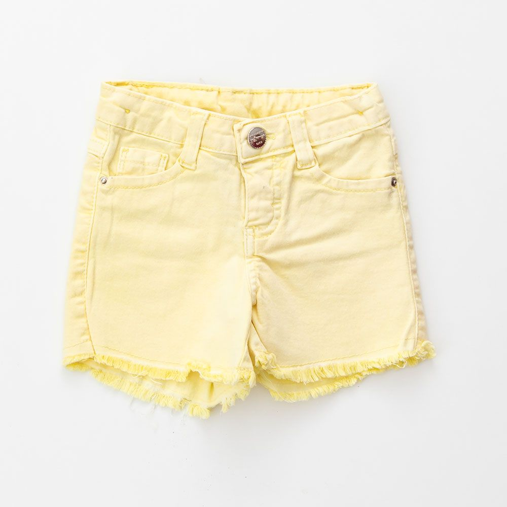 Short Menina Mania Kids Amarelo 50607Am