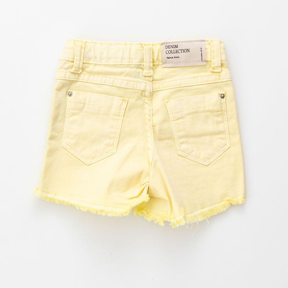 Short Mania Kids Amarelo 50607Am