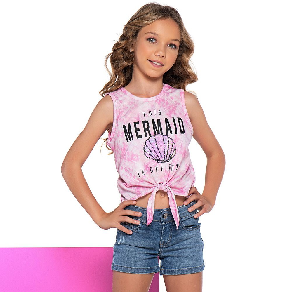 Short Menina Mania Kids Jeans Básico 60868