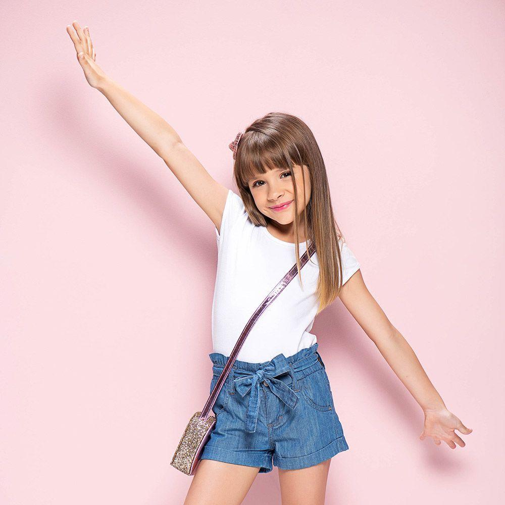 Short Menina Mania Kids Jeans Clochard 50709