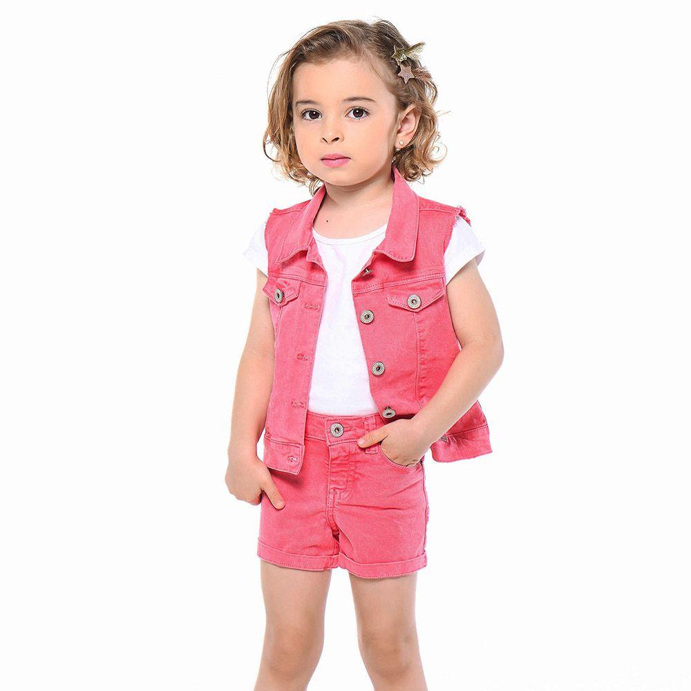 Short Menina Mania Kids Pink 50721Pin