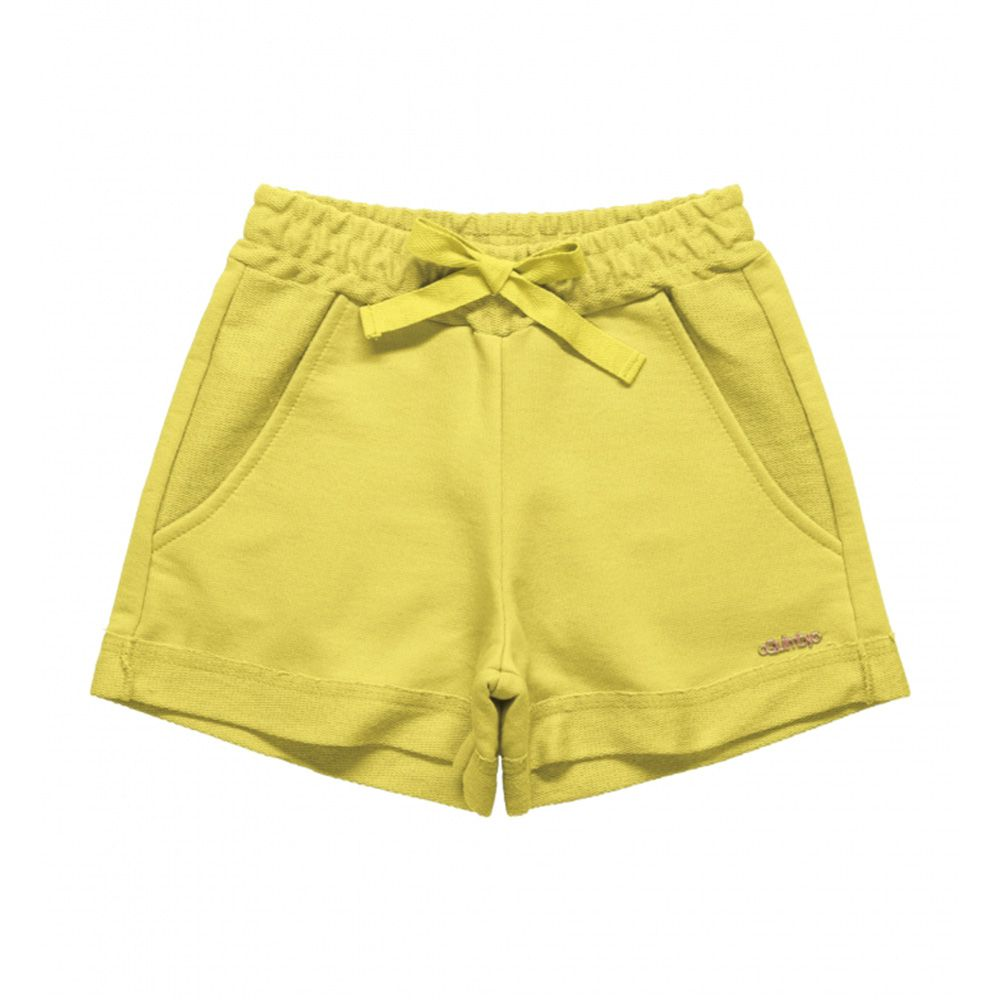 Short Menina Quimby Moletom Amarelo 27991