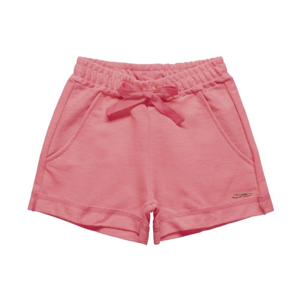 Short Menina Quimby Moletom Pink 27991
