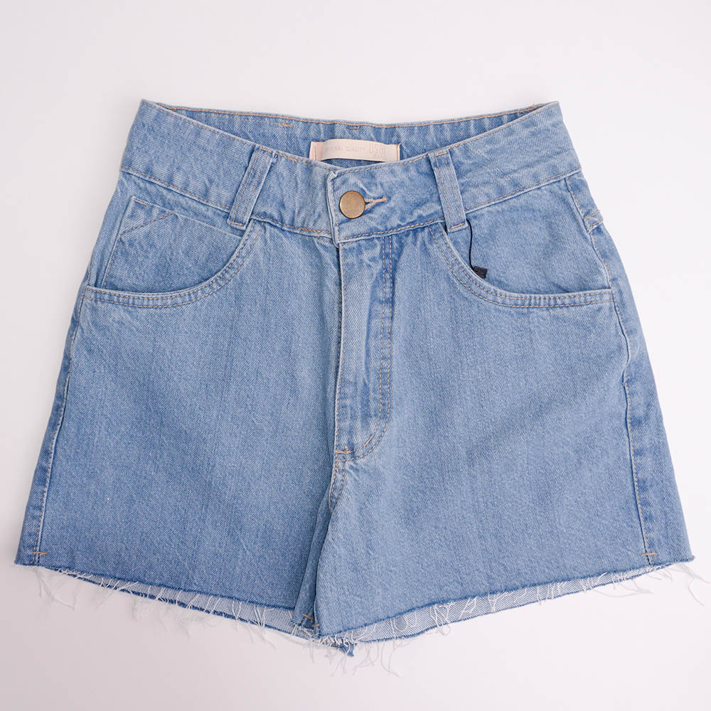 Short Menina Usar Jeans Barra Cortada 100