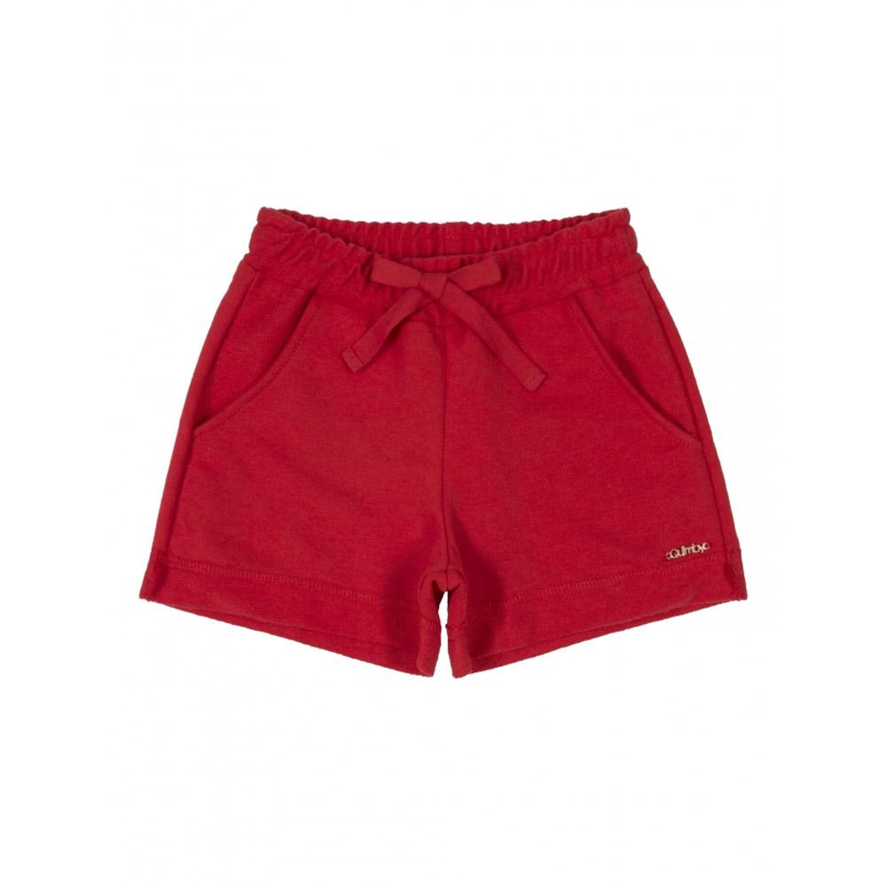 Short Quimby Moletom Vermelho 27991