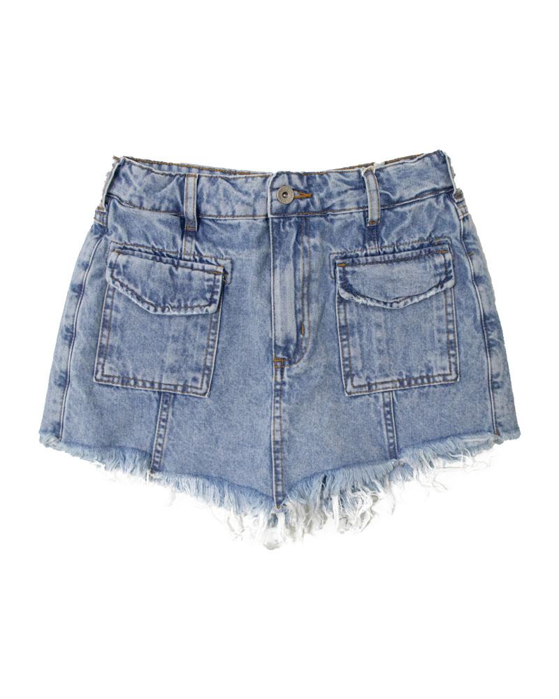 Short Saia Colcci Fun Jeans com Bolsos 65300392