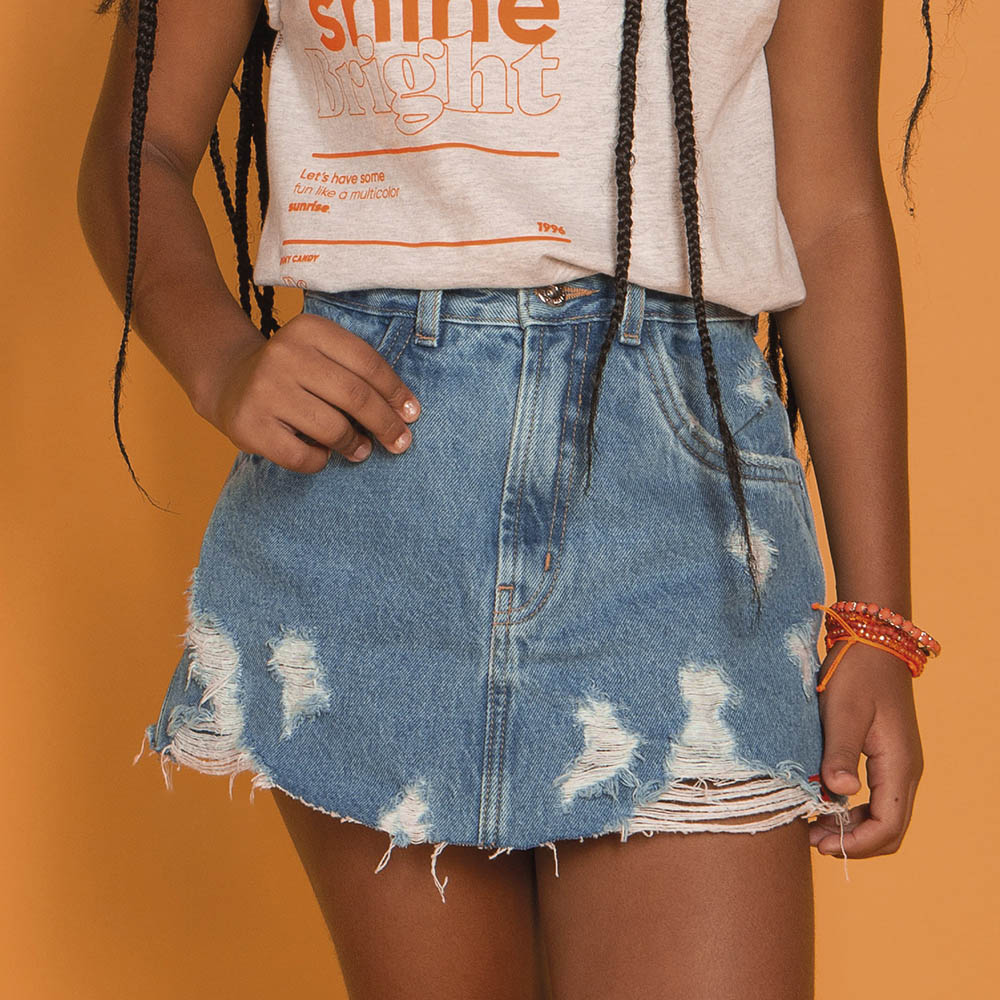 Short Saia Dimy Candy Jeans 82573