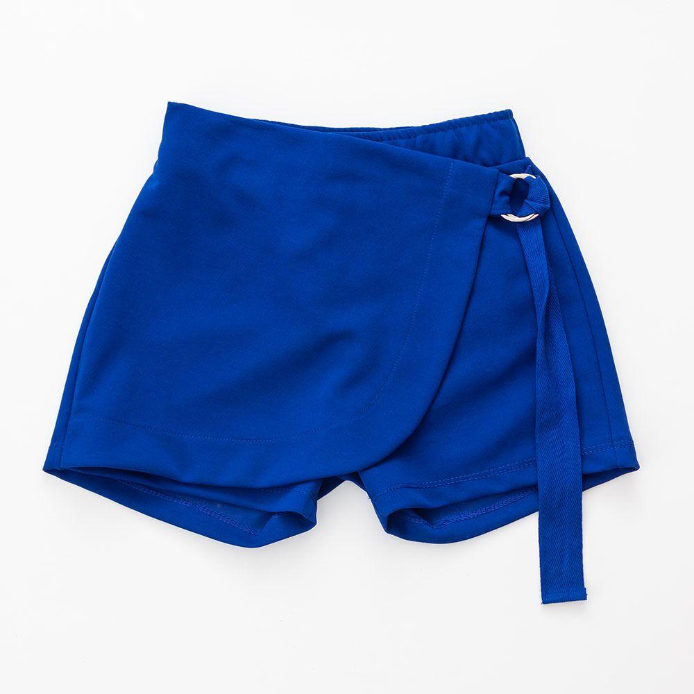 Short Saia Menina Fanyland Crepe Azul 5000595