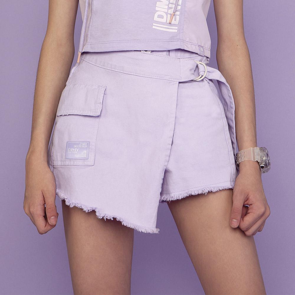 Shorts Saia Dimy Candy Lilás Com Transpasse 82585