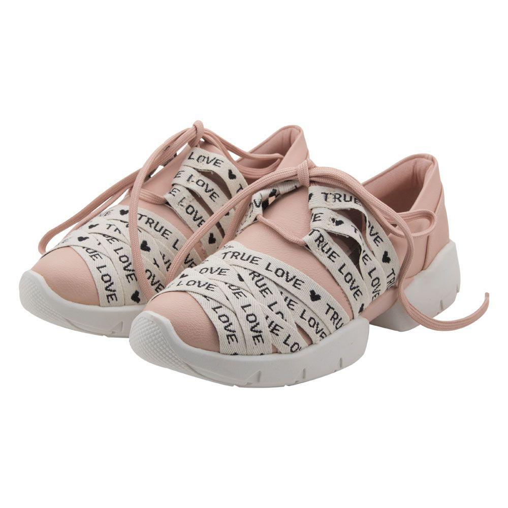 Tênis Menina Contramão Sneaker True Love Rosa 386P7267