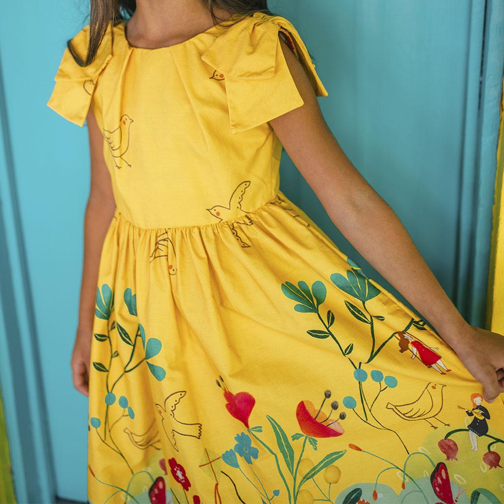 Vestido Amo Little Jardim Secreto 1204