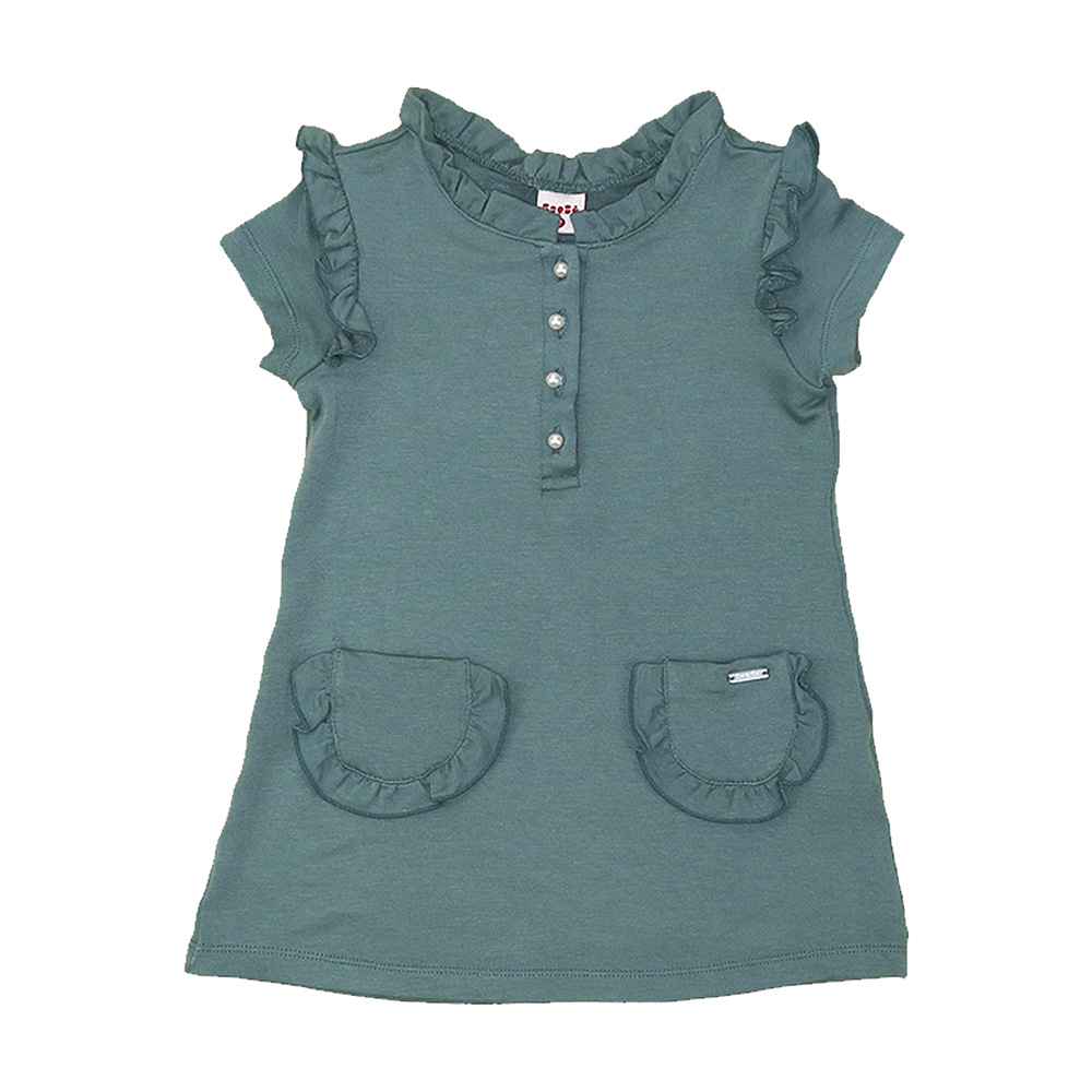 Vestido Beabá Moletom Verde 808059