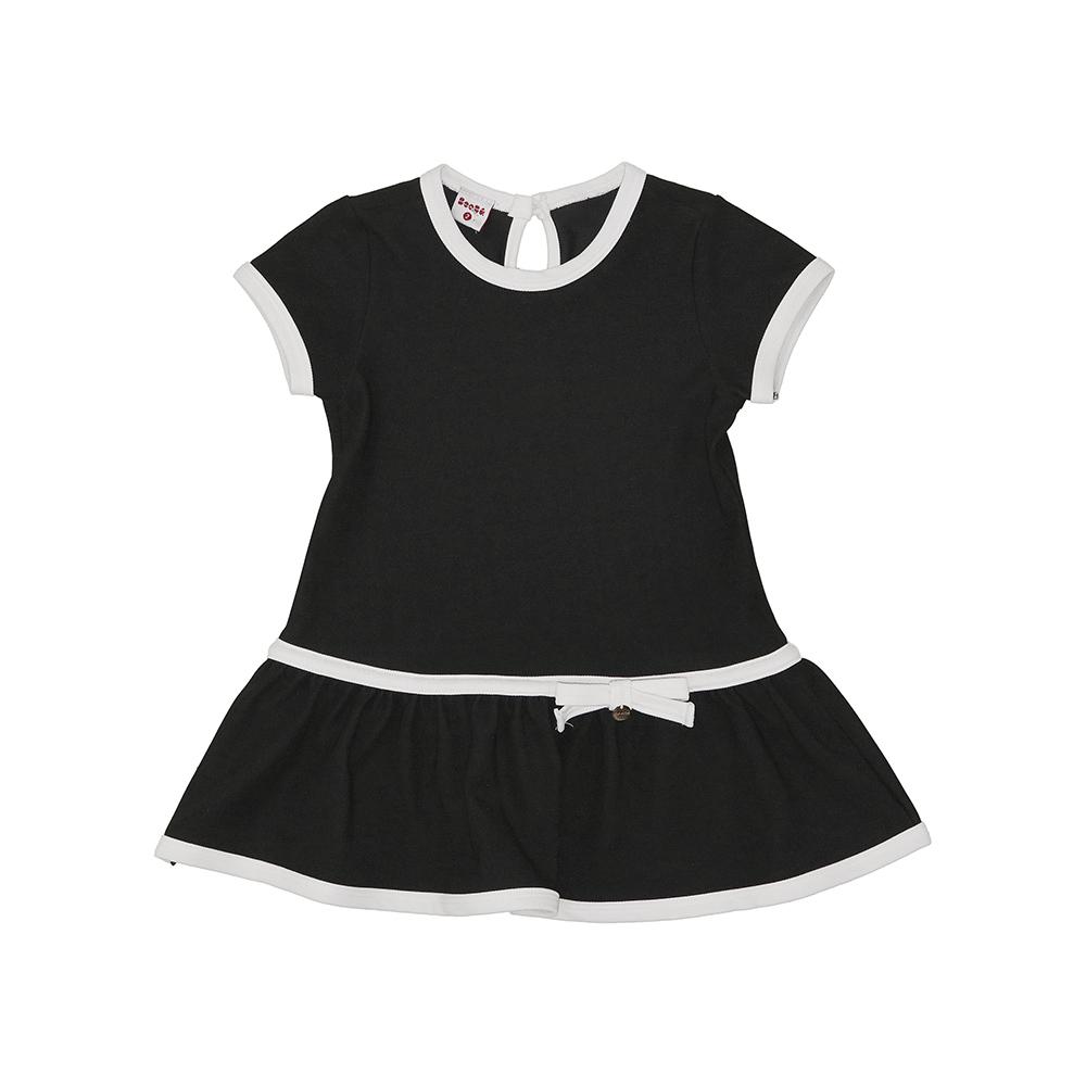 Vestido Beabá Preto Com Branco De Laço 808031