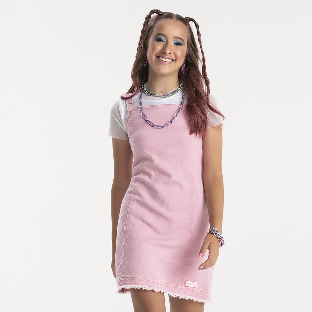Vestido Bobbylulu Rosa Claro B22378